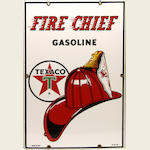 A fine Texaco Fire chief pump plate, 1961,