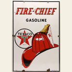 A fine Texaco Fire chief pump plate, 1940,