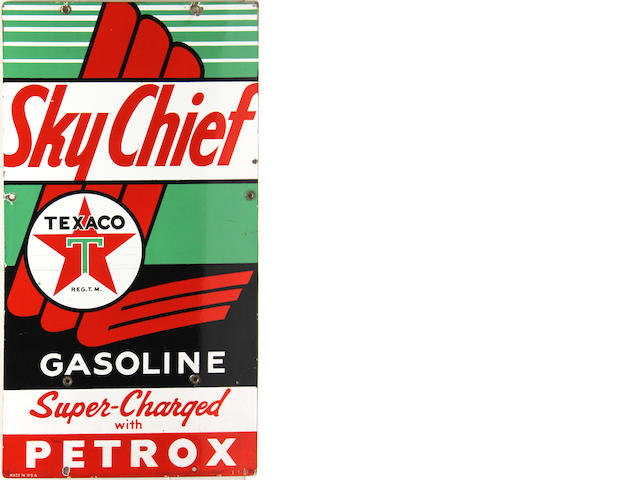 A Texaco Sky Chief Supreme pump plates, 1957,