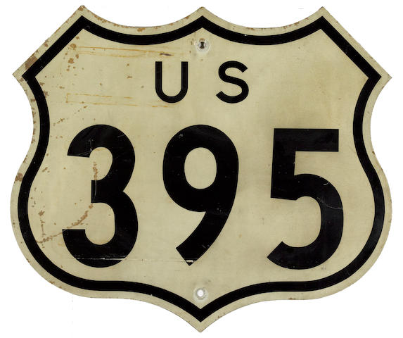 A U.S. Route 395 sign,