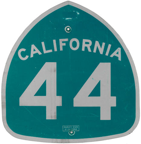 A California Route 44 sign,