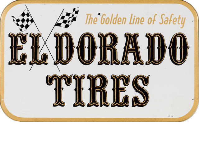 An Eldorado Tires sign,,