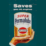 An Amoco Permalube oil sign,