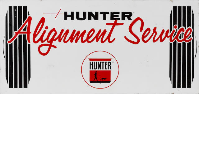 A Hunter Alignment Service sign,