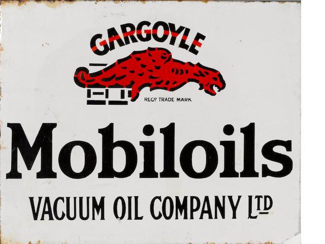 A Mobiloil Gargoil flange sign, 1940s,