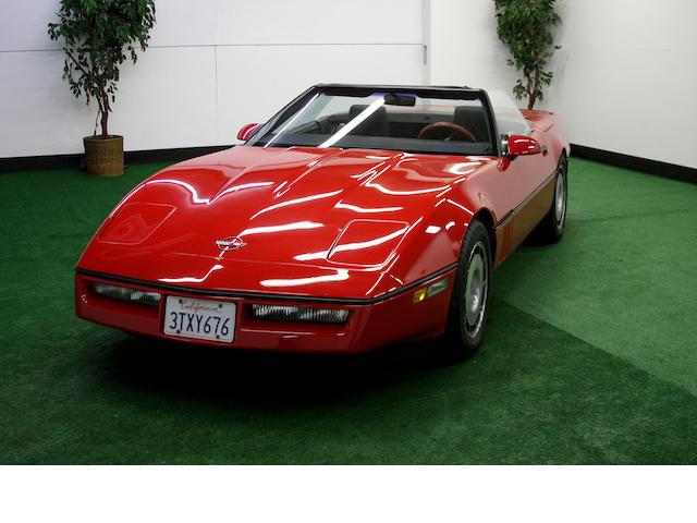 Corvette,1987 Chevrolet Corvette  Chassis no. 1G1YY3185H5111359