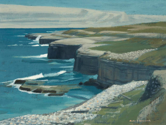 Alan Caswell Collier, OSA, RCA (Canadian, 1911-1990) Three views:On The Strait of Belle Isle, Newfoundland; Plage De La Dune De Sud, Isle De La Madeleine, P.Q.; and Across Avon River To Cape Blomidon, N.S. and smaller.