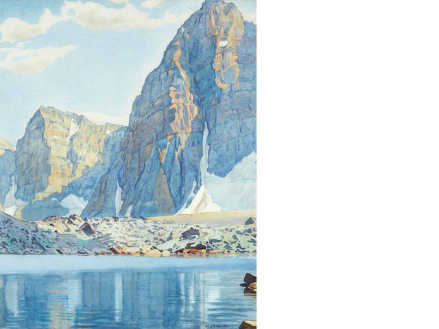 Walter Joseph Phillips, RCA, ASA, CSPWC (Canadian, 1884-1963) Eiffel Lake, Valley of the Ten Peaks, Alberta sight