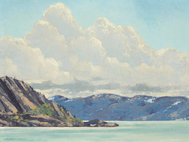 Francis Hans Johnston, ARCA, OSA, CSPWC (Canadian, 1888-1949) Thunderclouds Over Great Bear Lake N.W.T.