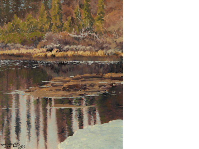 Francis Hans Johnston, ARCA, OSA, CSPWC (Canadian, 1888-1949) June Colour, A Tiny Lake Near Great Bear Lake N.W.T.