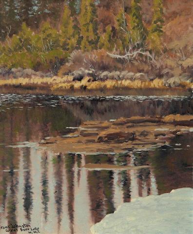 Francis Hans Johnston, ARCA, OSA, CSPWC (Canadian, 1888-1949) June Colour, A Tiny Lake Near Great Bear Lake N.W.T.