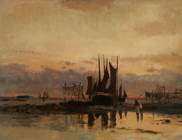 John A. Hammond, RCA, OSA (Canadian, 1843-1939) Lobster Pots, St. Andrews N.B.
