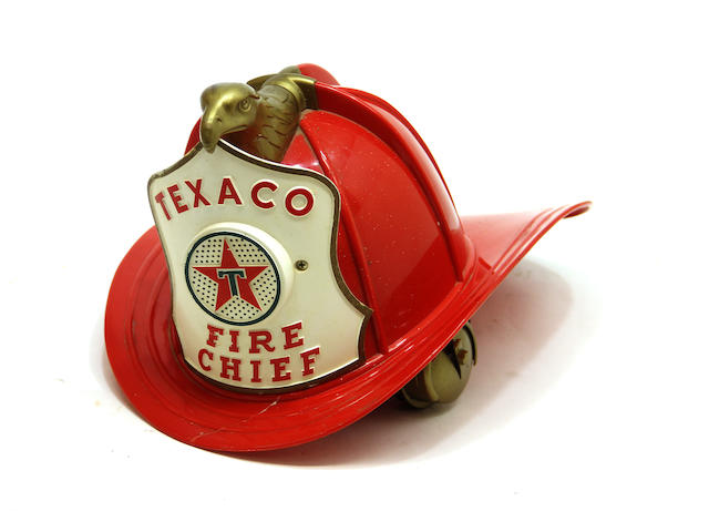 A Texaco kiddie Fire Chief hat,