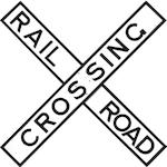 A large, cast iron, double-sided Rail-Road Crossing sign, circa 1920s,