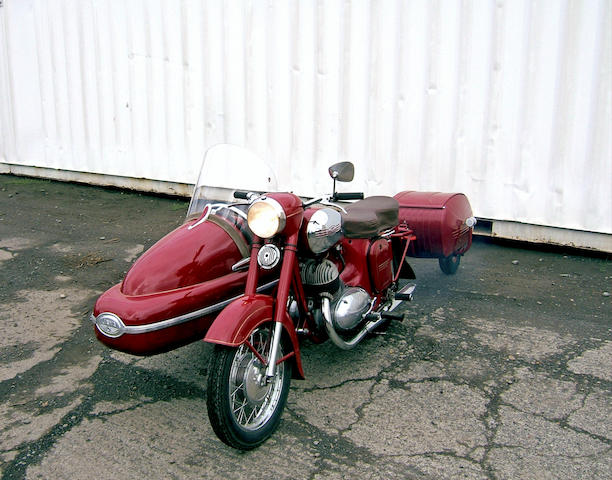 Formerly owner by Perry King,1969 Jawa 350 with Velorex Sidecar and PAV40 Trailer Engine no. 192879