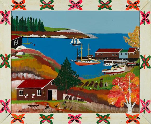 Joseph Norris (Canadian, 1924-1996) Lower Prospect including frame