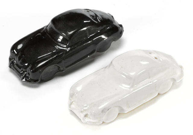 A pair of Porsche 356 salt and pepper shakers,