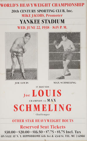 Joe Louis- Max Schmeling fight poster