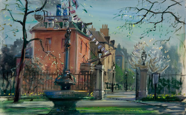 Original scene study by Peter Ellenshaw for Mary Poppins
