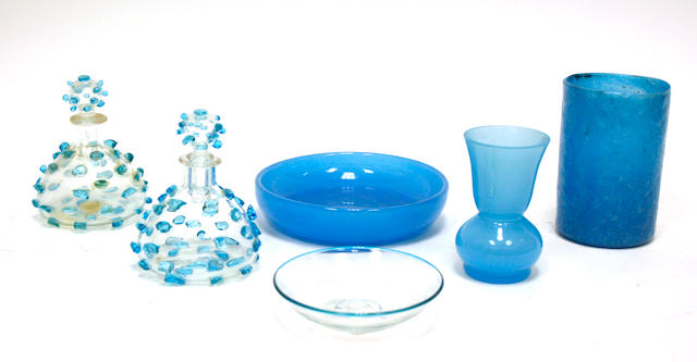 An assembled group of Continental glass first half 20th century