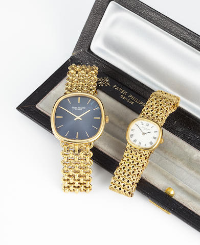 Patek Philippe. A fine 18K gold bracelet watchRef:3844/2, Movement no.1327705, Case No.2773695, circa 1979.