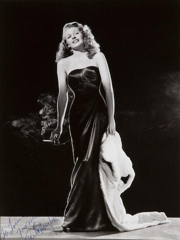 A Rita Hayworth inscribed and signed photograph