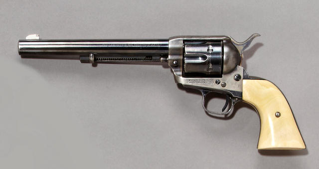 A Colt single action army Frontier Six Shooter revolver