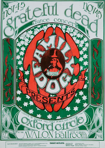 Logo.  Grateful Dead, Fillmore Concert Poster, Stanley Mouse Kelley, FD-33-OP-1 (Bill Graham, 1966)