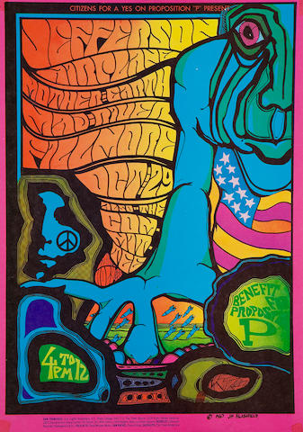 "Jefferson Airplane/Mother Earth/Mad River/The Committee, Benefit for Proposition ""P"" Fillmore concert poster"