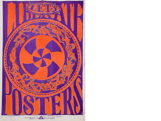 Let's Liberate Posters, Fillmore Concert Poster, David Hodges, 1967 (Bill Graham)