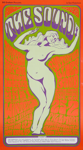 Jefferson Airplane/Grateful Dead, Fillmore Concert Poster, Wes Wilson, BG-29-OP-2 (Bill Graham, 1966)