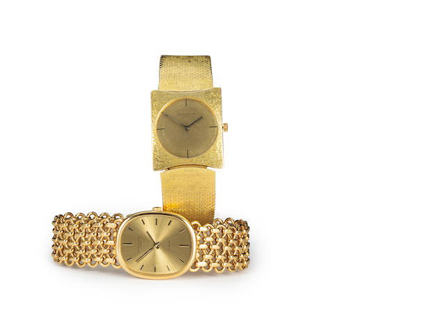 Patek Philippe. A fine 18K gold bracelet watchRef:3848/1, Case no. 545449, Movement no. 1330637, retailed by Gübelin, sold 1980