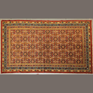 A Samarkan rug size approximately 4ft. 1in. x 7ft.