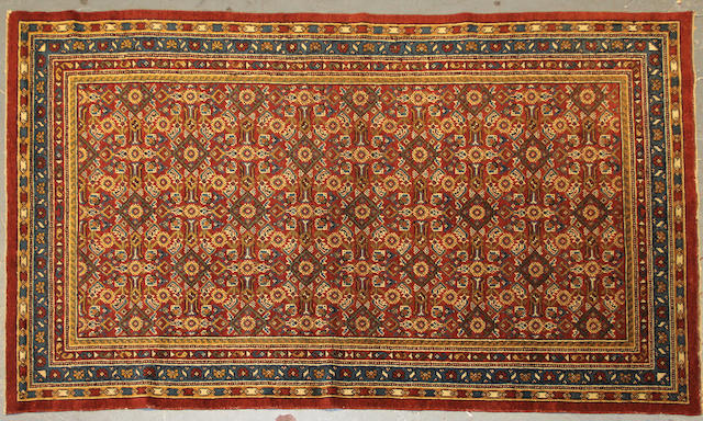 A Samarkand rug size approximately 4ft. 1in. x 7ft.