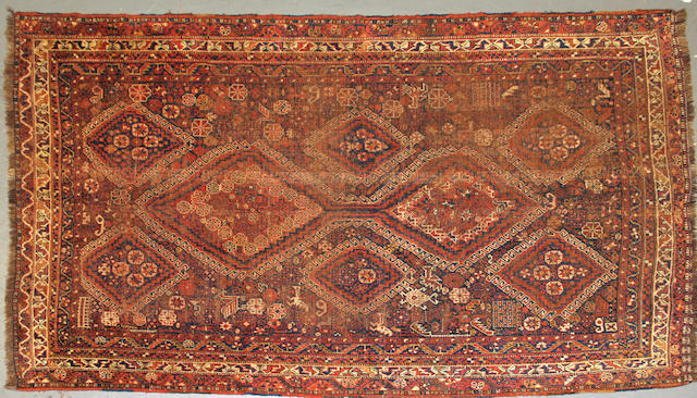 A Shiraz rug size approximately 5ft. 11in. x 9ft.