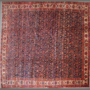 A Malayer carpet size approximately 10ft. 3in. x 11ft. 6in.