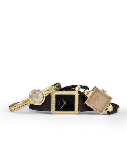 LeCoultre. An 18K gold back winding lady's bracelet watchNo. 871104