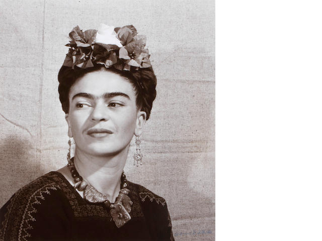 Bernard Silberstein; Frida Kahlo (with flowers in her hair);