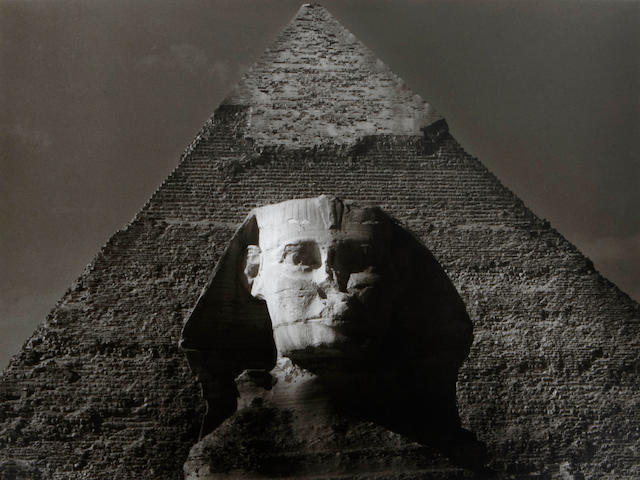 Max Yavno (American, 1911-1985); The Sphinx and Great Pyramid;