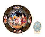 A large grouping of assorted items; including decorative eggs, prints, toys and a tea set