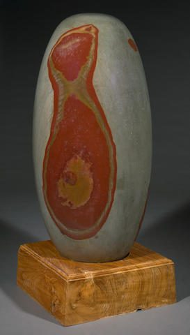 Shiva Lingam, large blotchy, 37 x 18in