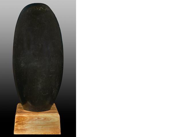 Shiva Lingam, Black, 19 x 42
