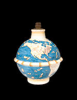 A rare Gio Ponti for Richard Ginori painted and glazed earthenware vase/lamp: Le Mie Terre 1928