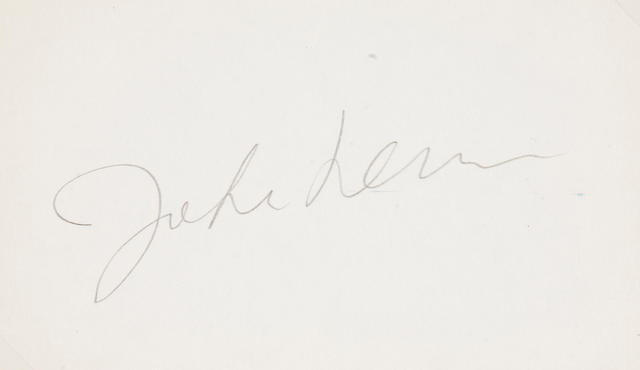 A John Lennon signed card
