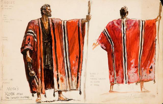 Original costume studies by John Jensen for The Ten Commandments