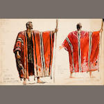 Costume study in color of Moses in robe