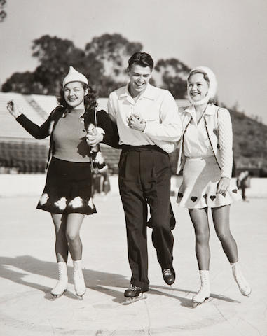 Photograph of Ronald Reagan, Ann Sheridan and Jane Wyman by Schuler Craig, 1938