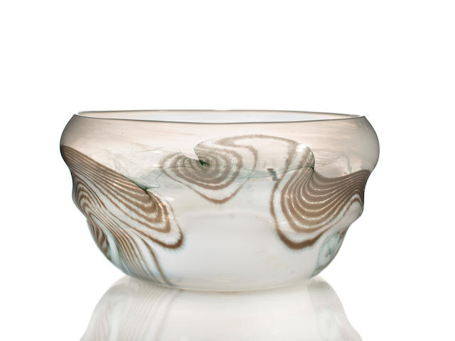An early Tiffany Studios Favrile glass bowl circa 1898