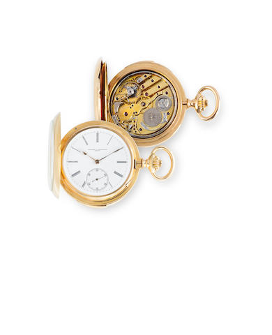 Vacheron & Constantin. A fine 18K rose gold glazed hunting case minute repeating watchCase no. 188458, circa 1900