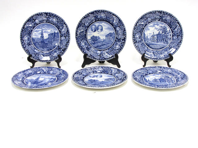 An assembled group of presidential commemorative ceramics and glass 20th century